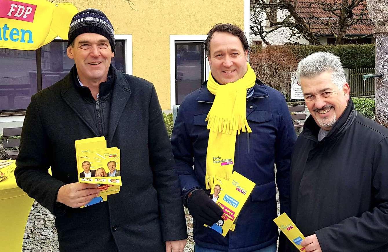 FDP Infostand Markt Schwaben